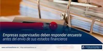 Empresas supervisadas deben responder encuesta antes del envío de sus estados financieros