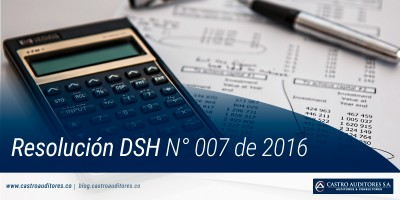 Resolución DSH N° 007 de 2016