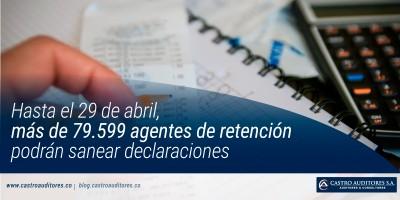 Hasta el 29 de abril, más de 79.599 agentes de retención podrán sanear declaraciones