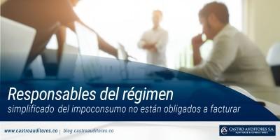 Responsables del régimen simplificado del impoconsumo no están obligados a facturar | Blog de Castro Auditores