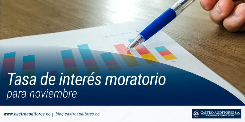 Tasa de Interés Moratorio para noviembre   Blog de Castro Auditores