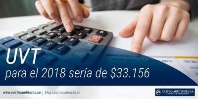 UVT para el 2018 sería de $33.156 | Blog de Castro Auditores