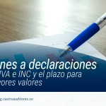 Correcciones a declaraciones de retención, IVA e INC y el plazo para pagar los mayores valores | Blog de Castro Auditores