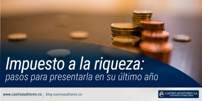 Impuesto a la riqueza: pasos para presentarla en su último año | Blog de Castro Auditores