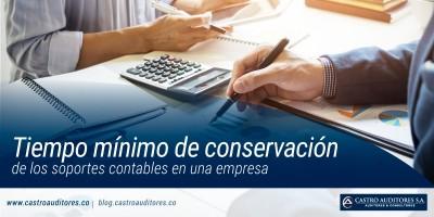 Tiempo mínimo de conservación de los soportes contables en una empresa | Blog de Castro Auditores
