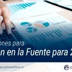 Actualizaciones para Retención en la Fuente para 2018 | Blog de Castro Auditores