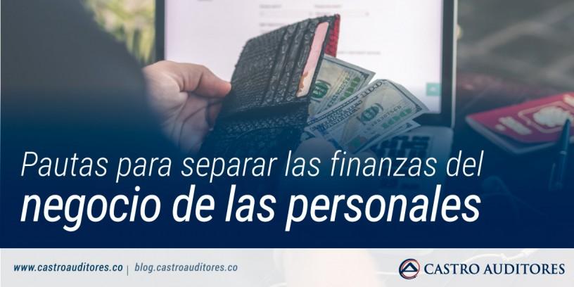 Pautas para separar las finanzas del negocio de las personales | Blog de Castro Auditores