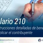 Formulario 210 contiene instrucciones detalladas de beneficios que puede aplicar el contribuyente | Blog de Castro Auditores