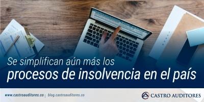 Se simplifican aún más los procesos de insolvencia en el país | Blog de Castro Auditores