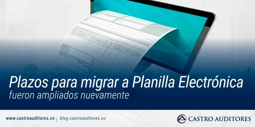 Plazos para migrar a planilla electrónica fueron ampliados nuevamente | Blog de Castro Auditores