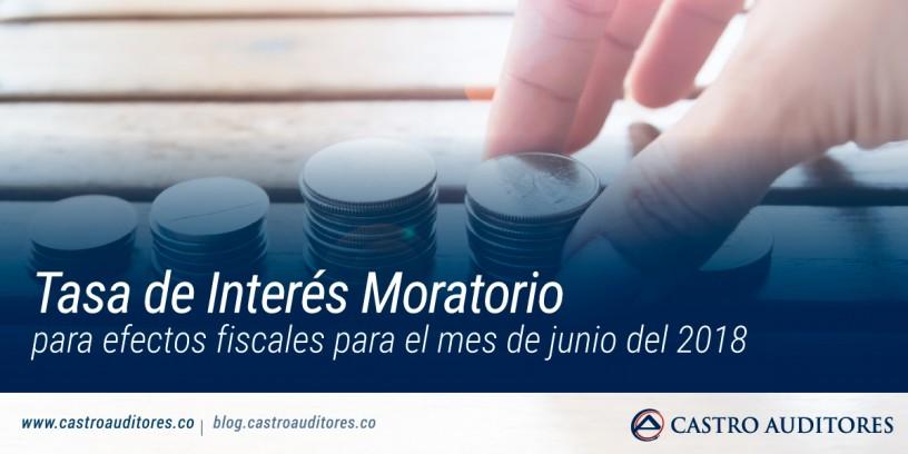 Tasa de Interés Moratorio para efectos fiscales para el mes de junio del 2018 | Blog de Castro Auditores