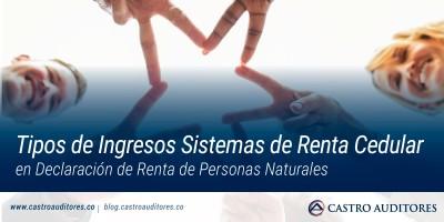 Tipos de Ingresos Sistemas de Renta Cedular en Declaración de Renta de Personas Naturales | Blog de Castro Auditores