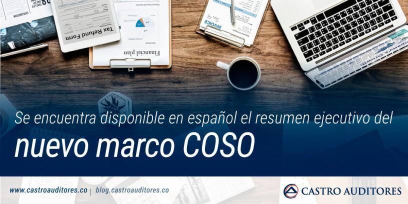 Se encuentra disponible en español el resumen ejecutivo del nuevo marco COSO | Blog de Castro Auditores