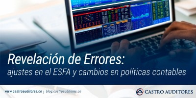 Revelación de Errores: ajustes en el ESFA y cambios en políticas contables | Blog de Castro Auditores