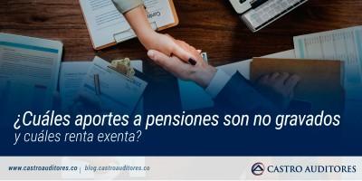 ¿Cuáles aportes a pensiones son no gravados y cuáles renta exenta? | Blog de Castro Auditores