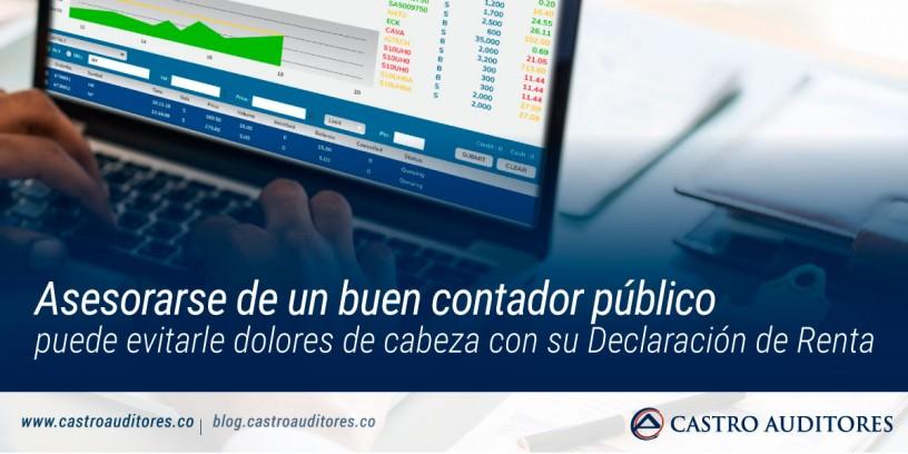 Asesorarse de un buen contador público puede evitarle dolores de cabeza con su Declaración de Renta | Blog de Castro Auditores
