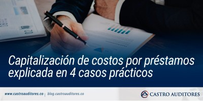 Capitalización de costos por préstamos explicada en 4 casos prácticos