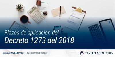 Plazos de aplicación del Decreto 1273 del 2018 | Blog de Castro Auditores