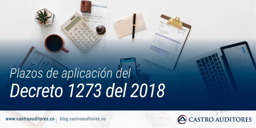 Plazos de aplicación del Decreto 1273 del 2018   Blog de Castro Auditores