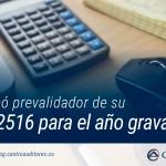 DIAN publicó prevalidador de su formato 2516 para el año gravable 2017 | Blog de Castro Auditores