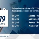 La Semana entre el 16 y 19 de Octubre, deben Declarar Renta 2017 las Personas Naturales con cédulas terminadas entre 08 y 01 | Blog de Castro Auditores