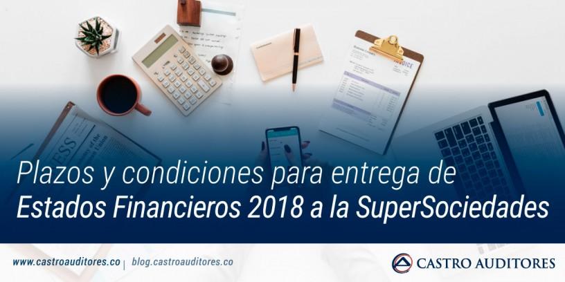 Plazos y condiciones para entrega de estados financieros 2018 a la SuperSociedades | Blog de Castro Auditores