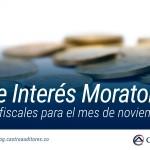 Tasa de Interés Moratorio para efectos fiscales para el mes de noviembre del 2018 | Blog de Castro Auditores