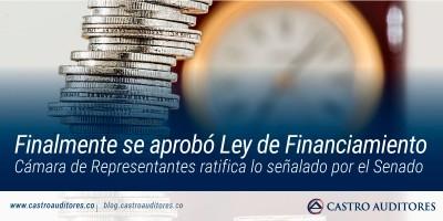 Finalmente se aprobó Ley de Financiamiento | Blog de Castro Auditores