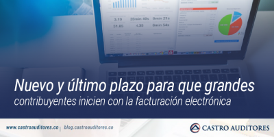 Nuevo y último plazo para que grandes contribuyentes inicien con la facturación electrónica | Blog de Castro Auditores