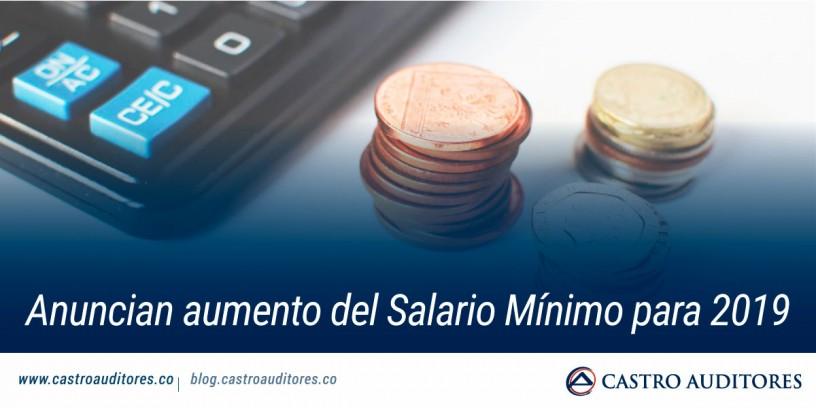 Anuncian aumento del Salario Mínimo para 2019 | Blog de Castro Auditores