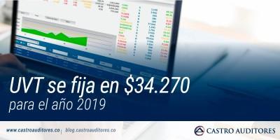 UVT se fija en $34.270 para el año 2019 | Blog de Castro Auditores