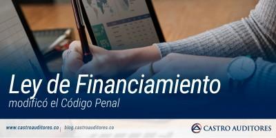 Ley de Financiamiento modificó el Código Penal | Blog de Castro Auditores