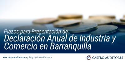 Plazos para Presentación de Declaración Anual de Industria y Comercio en Barranquilla | Blog de Castro Auditores