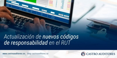 Actualización de nuevos códigos de responsabilidad en el RUT | Blog de Castro Auditores