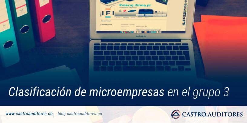 Clasificación de microempresas en el grupo 3 | Blog de Castro Auditores