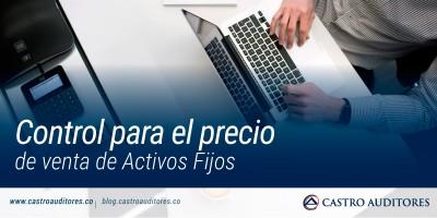 Control para el precio de venta de Activos Fijos | Blog de Castro Auditores