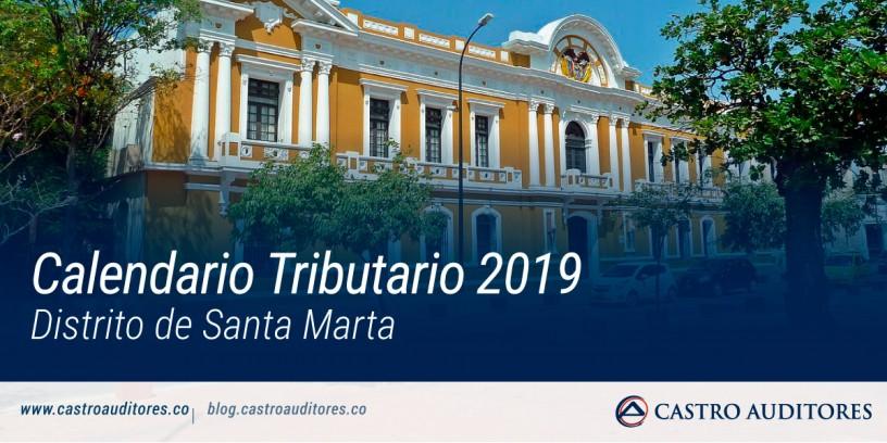 Calendario Tributario 2019, Distrito de Santa Marta | Blog de Castro Auditores