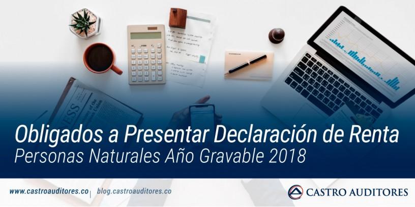 Obligados a Presentar Declaración de Renta Personas Naturales Año Gravable 2018   Blog de Castro Auditores
