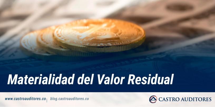 Materialidad del Valor Residual | Blog de Castro Auditores