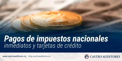 Pagos de impuestos nacionales inmediatos y tarjetas de crédito | Blog de Castro Auditores