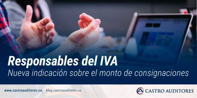 Responsables del IVA: nueva indicación sobre el monto de consignaciones