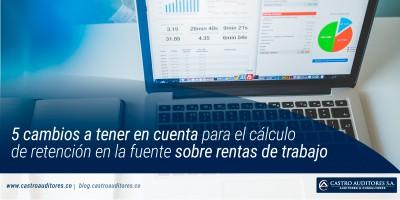 5 cambios a tener en cuenta para el cálculo de retención en la fuente sobre rentas de trabajo